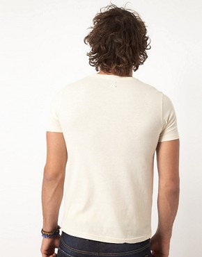 Image 2 ofASOS T-Shirt With Hem Stripe