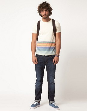 Image 4 ofASOS T-Shirt With Hem Stripe
