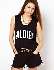 Illustrated People Soldier Oversized Crop Top