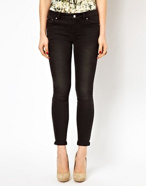 Image 1 ofKaren Millen Skinny Jeans in Washed Black