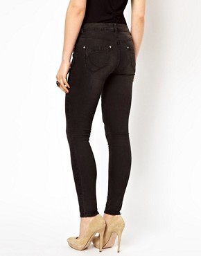 Image 2 ofKaren Millen Skinny Jeans in Washed Black