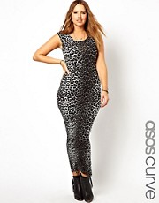 ASOS CURVE Maxi Dress In Animal Print