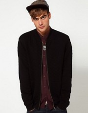 River Island Qulited Jersey Bomber Jacket