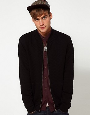 Image 1 of River Island Qulited Jersey Bomber Jacket