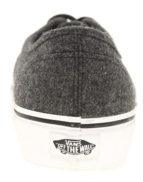 Image 2 ofVans Authentic Wool Plimsolls