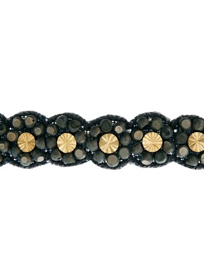 Image 3 of Deepa Gurnani Gunmetal And Crystal Head Band