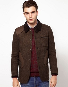 Image 1 ofASOS Jacket with Contrast Collar