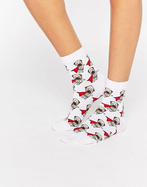 ASOS Superpug Ankle Socks
