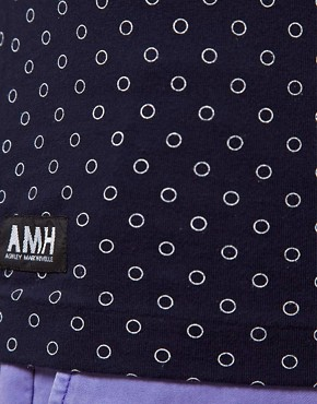 Image 3 ofAMH Reverse Polka Dot T-Shirt