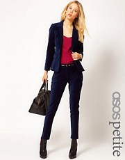 ASOS PETITE Exclusive Slimfit Velvet Trouser