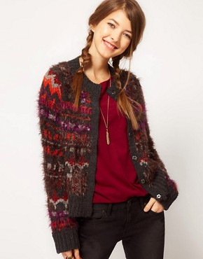 Image 1 ofFree People Fluffy Intarsia Cardigan