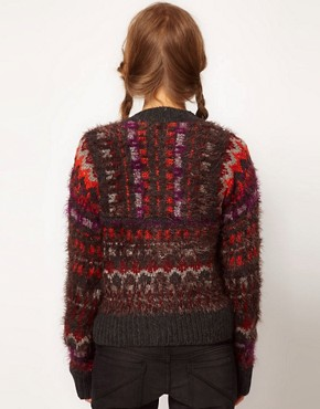 Image 2 ofFree People Fluffy Intarsia Cardigan