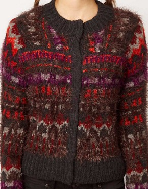 Image 3 ofFree People Fluffy Intarsia Cardigan