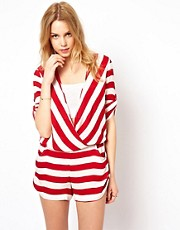 Traffic People Stripe Playsuit