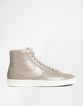 Nike Blazer Mid Premium Leather Beige Trainers