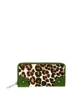Image 1 ofJuicy Couture Leopard Leather Trim Purse