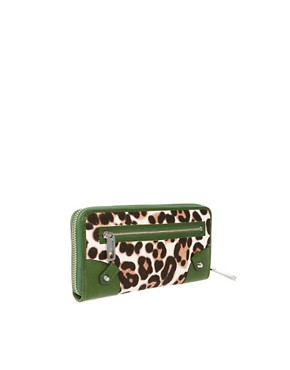 Image 2 ofJuicy Couture Leopard Leather Trim Purse