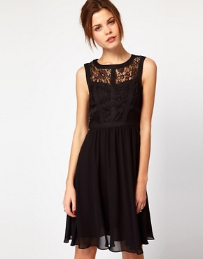 Image 1 ofWarehouse Lace Bodice Dress