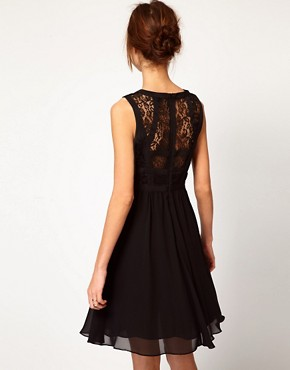 Image 2 ofWarehouse Lace Bodice Dress