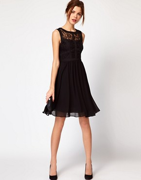 Image 4 ofWarehouse Lace Bodice Dress