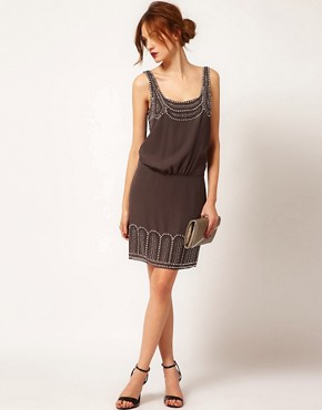 Image 4 ofWarehouse Studded Tie Back Dress