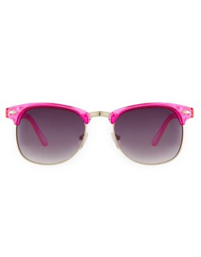 Image 2 ofJeepers Peepers Duke Fuscia Round Frame Sunglasses