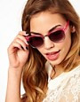 Image 3 ofJeepers Peepers Duke Fuscia Round Frame Sunglasses