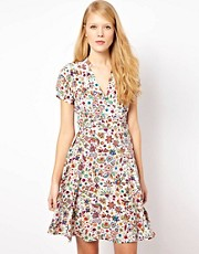 YMC Tea Dress in Pop Floral Print