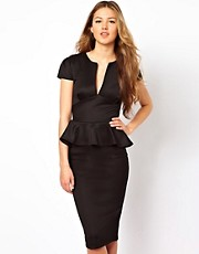 Club L Tailored Midi Peplum Dress