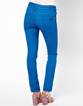 Image 2 of7 For All Mankind Mid Rise Cristen Skinny Jeans