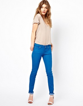 Image 1 of7 For All Mankind Mid Rise Cristen Skinny Jeans