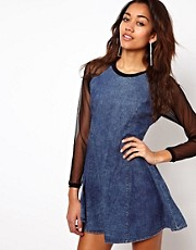 Motel Margie Denim Swing Dress