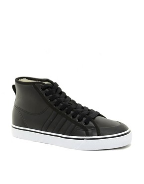 Image 1 ofAdidas Originals Nizza Hi Shearling Lined Trainers