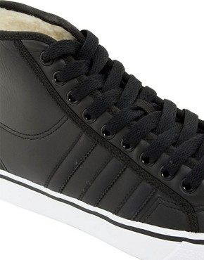 Image 2 ofAdidas Originals Nizza Hi Shearling Lined Trainers