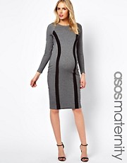 ASOS Maternity Pencil Dress With Panelling