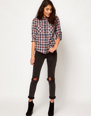Image 4 of Glamorous Checked Western Shirt
