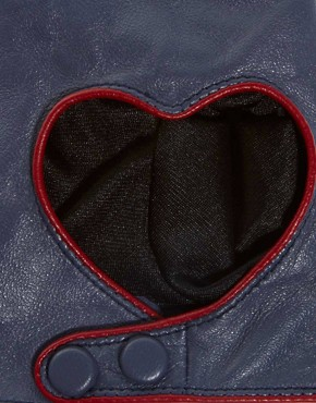 Image 2 ofASOS Leather Heart Cut Out Gloves
