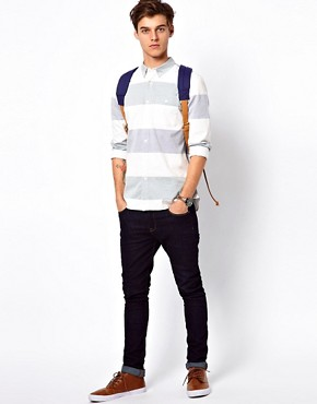 Image 4 ofASOS Oxford Shirt With Stripe