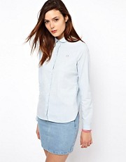 Lacoste L!Ve Curved Collar Chambray Shirt