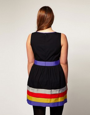 Image 2 ofASOS CURVE Exclusive Dress With Ribbon Trim