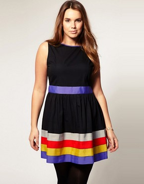 Image 4 ofASOS CURVE Exclusive Dress With Ribbon Trim