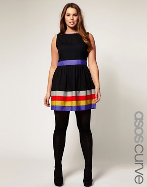 Image 1 ofASOS CURVE Exclusive Dress With Ribbon Trim
