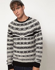 Diesel Sweater Crew Neck With Fairisle Print