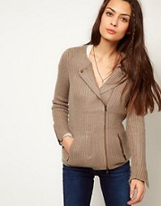 American Vintage Alpaca Knitted Biker Cardigan