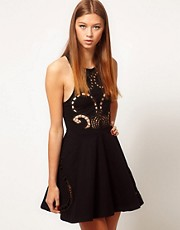 Alice McCall Edith Dress In Cutwork With Racer Back