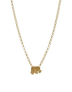 Image 1 ofDogeared Whispers Elephant Necklace