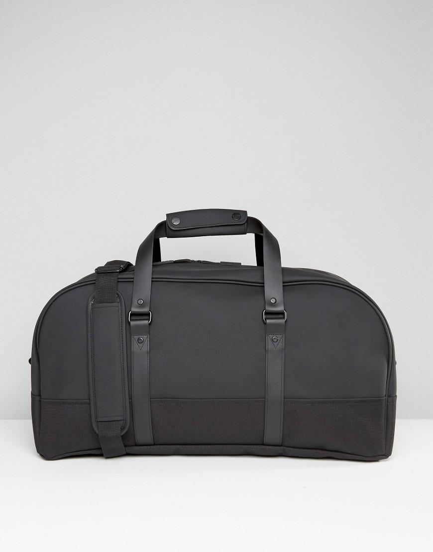 Rains Travel Bag In Black - Black