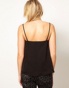 Image 2 ofASOS Maternity Cami With Skinny Straps and Sheer Panels