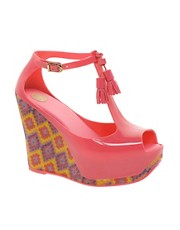 Melissa Peace Printed Tassle Wedge