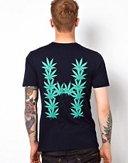 Huf T-Shirt Leaves Back Print